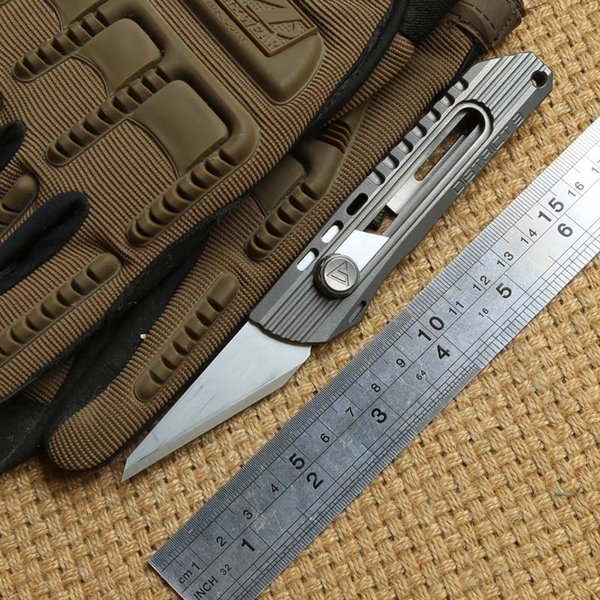 District 9 Original Paper cutter Cuttin knife Titanium Handle Olfa stainless steel blade Pruning pocket outdoor camping knives EDC tool