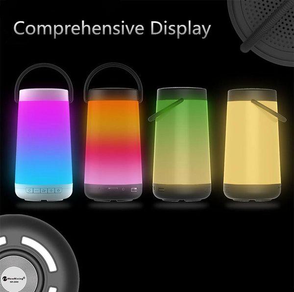 NewRixing Mini Smart Bluetooth Speaker LED Portable Wireless Speaker Pulse 3D Stereo MP3 Player for phone speaker 1PCS/LOT