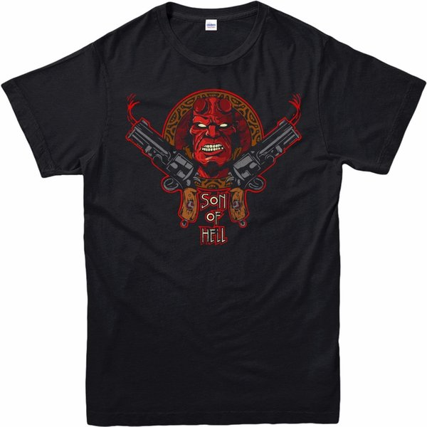 Hellboy T-Shirt Fantasy Action Son Of Hell Hell Boy Adult And Kids Sizes Fresh Design Summer Good Quality