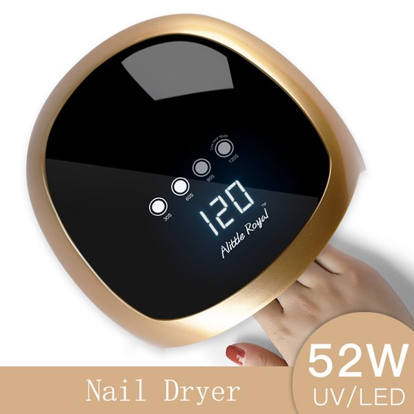 Sun5 Nail Dryer 52W LED UV Lamp Nail Dryer Fingernail Toenail Gel Curing Manicure Machine Nail Art Salon Tool Automatic Sensing Y18100807