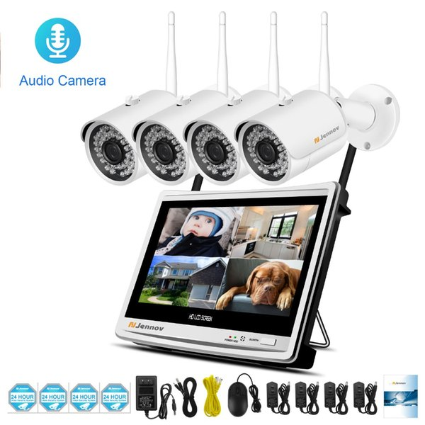 8ch NNR Kit Wireless Security Camera System CCTV kits ip Video Surveillance Wifi System P2P HD Audio Record Outdoor Night Vision