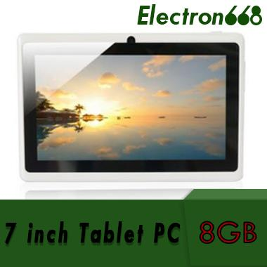 60X 2018 7 inch Capacitive Allwinner A33 Quad Core Android 4.4 dual camera Tablet PC 8GB RAM 512MB ROM WiFi EPAD Youtube Facebook Google DHL
