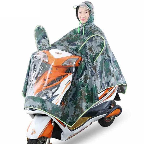 Vendita calda Oxford Cloth PVC impermeabile per bicicletta Motorcycle 1 Persona Poncho adulto con cappuccio impermeabile Impermeabile impermeabile