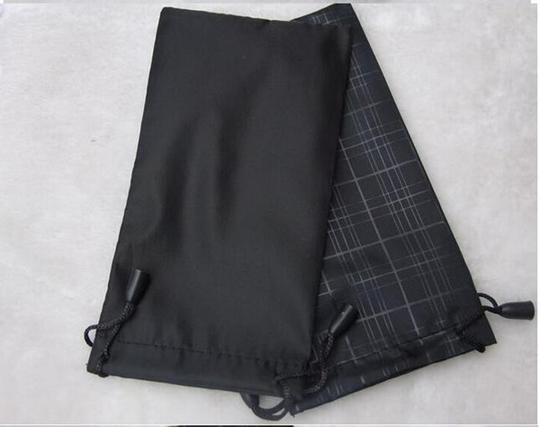 top popular women fashion grid black bag pouch soft eyeglasses bag glasses case hot waterproof sunglasses freeshipping 100pcs lot 17.5*9cm 2021