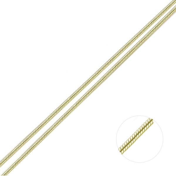2 Farben lange Version zertifiziert S925 925 Sterling Silber 925 feste reine Kette Halskette 1mm Gold überzogene Frauen Erkenntnisse Masse Schlange