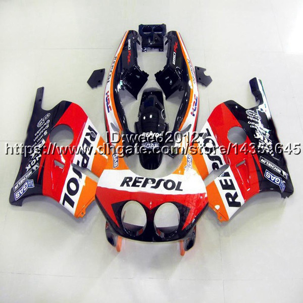 23colors+5Gifts Injection mold repsol motorcycle Fairings for HONDA CBR250RR MC22 1990 1991 1992 ABS plastic bodywork kit