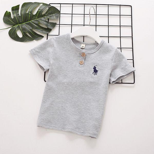t-shirt en coton 2018 INS NEW ARRIVAL garçon Filles Enfants t-shirt à manches courtes coton de haute qualité causal pur couleur été POLO t-shirt été 4 couleurs
