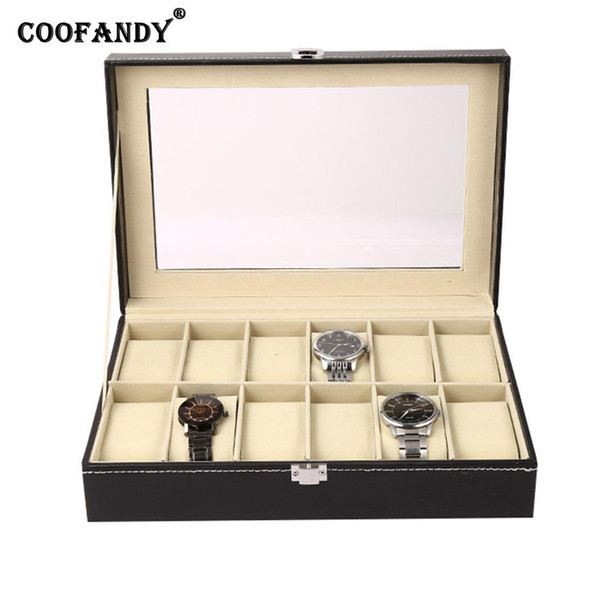 Home Holder Watch Organizer etc Shop Collection Box Storage Display Exhibition Hall Case Buckle Metal New Jewelry Black
