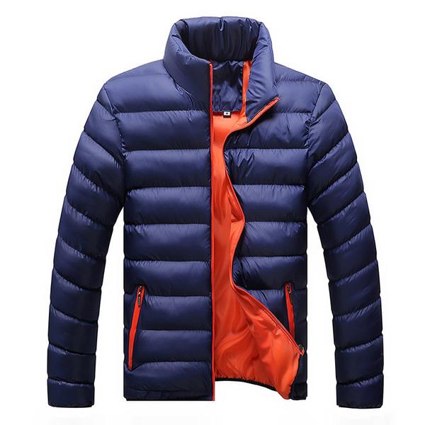Veste D'hiver Hommes 2019 De Mode Col Mâle Parka Veste Hommes Solide Épais Vestes Et Manteaux Homme Hiver Parkas M-6XL