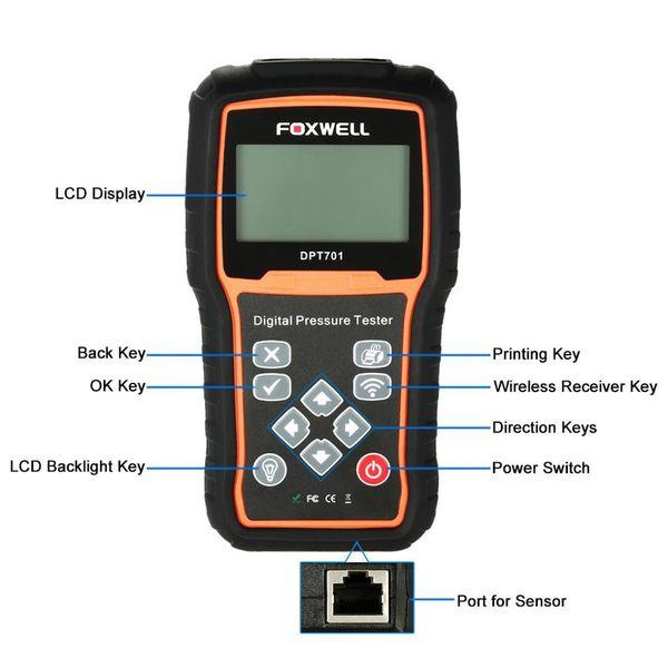 Foxwell DPT701 Petrol Diesel Oil Fuel Pressure Tester Automotriz Diagnostic Scanner Automotive Engine Compression Scan Tool