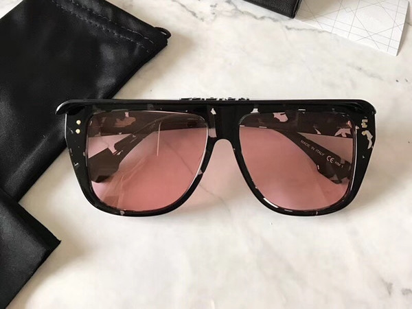2018 neue Club Marke Sonnenbrille Plank Full Frame modernes Design Sonnenbrille klassische Party Strand Sonne Glas UV400 Hipster Brillen mit Kleinkasten
