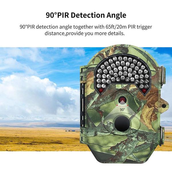 32GB Hunting Trail Camera 16 MP 1080P 65FT/20M PIR Detection Distance Wildlife Camera with 52 Pcs 940NM No Glow IR LEDs, 0.5S Trigger DV52