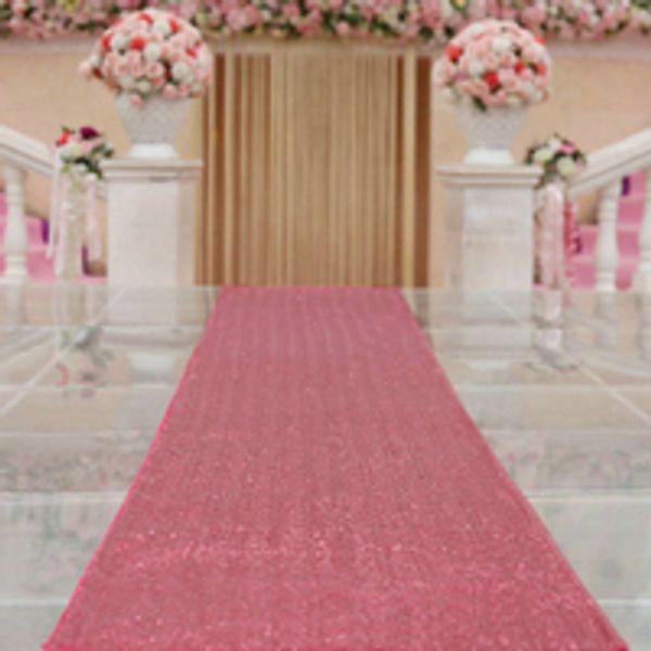 ShinyBeauty Sequin Aisle Runner 30feetx36-Inch Sequin Carpet Runner Hot Pink for Wedding Ceremony Burlap Table Runner Burlap Runners