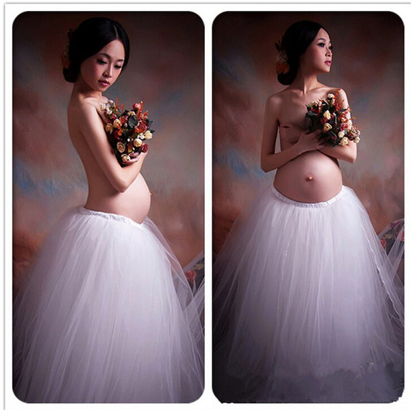 White Gown to Flooring Desses Maternity Photography Props Lace Dress Pregnant Photography Props Fancy Pregnancy Photo Shoot