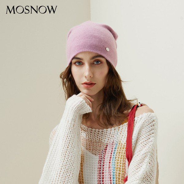 Winter Hats For Woman 2018 Beanies Rabbit Hair Knitted Hat Girls Autumn Female Beanie Warmer Bonnet Ladies Casual Cap 8 Color