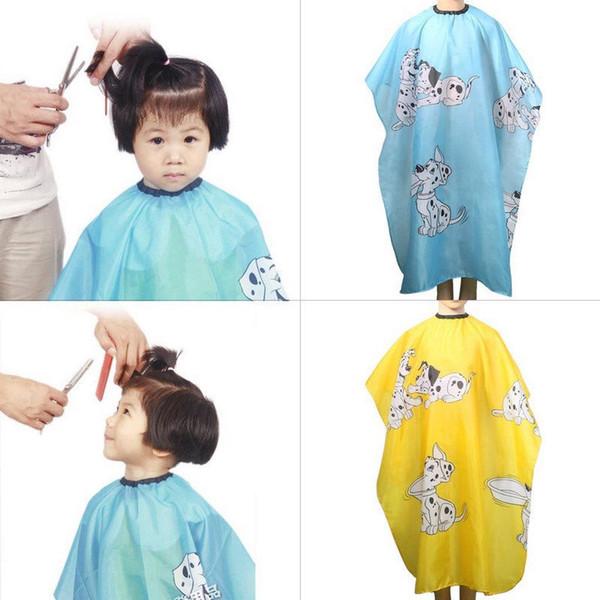 1 stücke Cartoon Kinder Friseur Wrap Wasserdichtes Haar Cut Tuch Salon Kleid Abdeckung Friseur Friseur Haar Styling hause sauber Werkzeuge