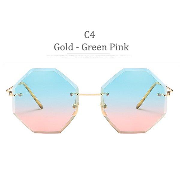 Lente C4 Gold Frame Green Pink