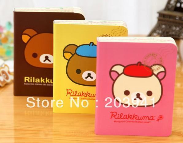 Wholesale- Free Shipping/NEW cute cartoon rilakkuma style DIY MINI Notebook/Notepad Memo/Diary/Wholesale