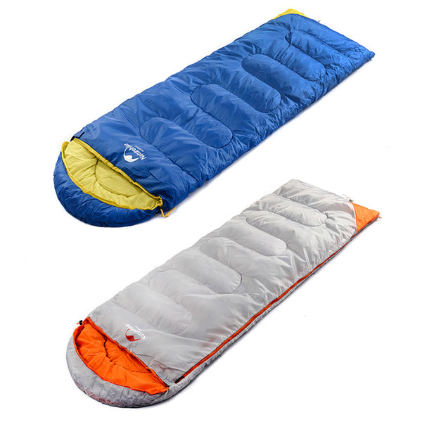 Hot Sale Ultralight Camping Sleeping Bag Adult Tents Cotton Filler Envelope Outdoor Warm Spring Autumn Hiking Camping Bags New