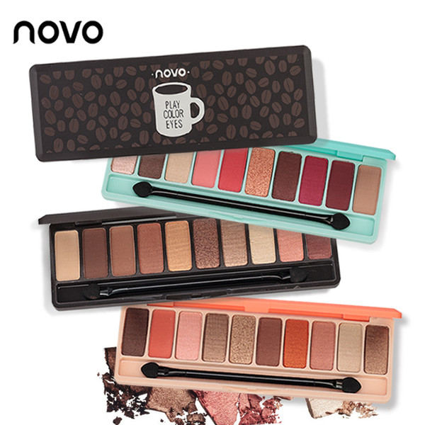 NOVO 10 Colors eyeshadow palette Matte EyeShadow palette Glitter eye shadow MakeUp Nude MakeUp set Korea Cosmetics