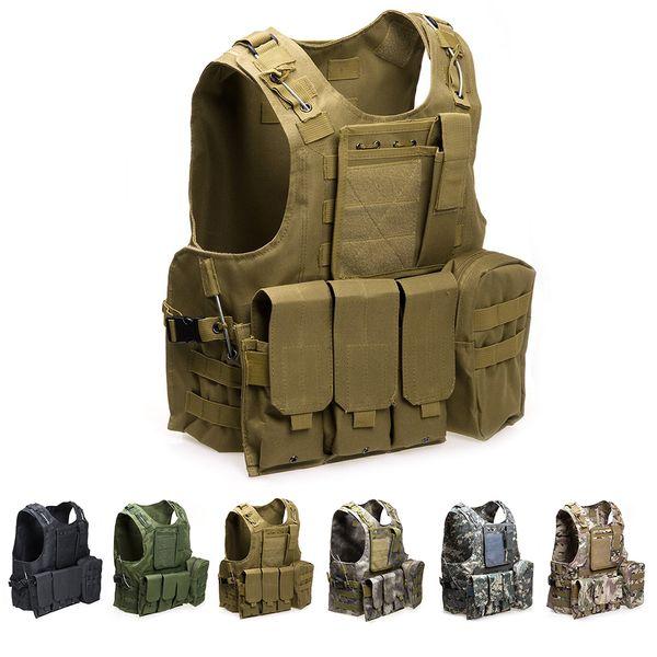 Military Tactical Vest Molle Combat Assault Plate Carrier Tactical Vest 7 Colors CS Outdoor Clothing Hunting Vest