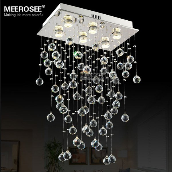 Rectangle Crystal Light Fixture Ceiling mounted Living room Bedroom Lamp Lustres de cristals Lighting with real K9 crystals