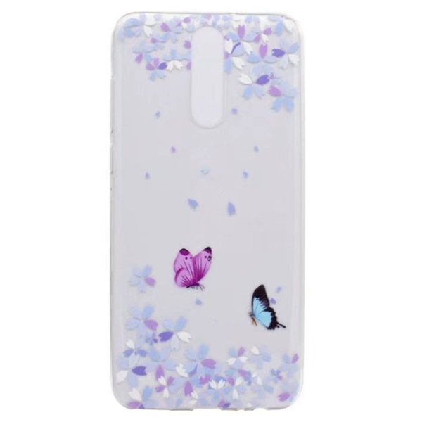 Transparent TPU Cover For Huawei Mate 10 Lite Case Colour decoration Tower bike Butterfly Girl Design Phone Cases