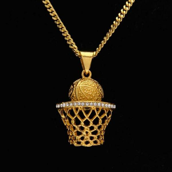 Европейский и американский мода jewelryDiamond корзина съемки кулон черный DJ ночной клуб хип-хоп кулон ожерелье