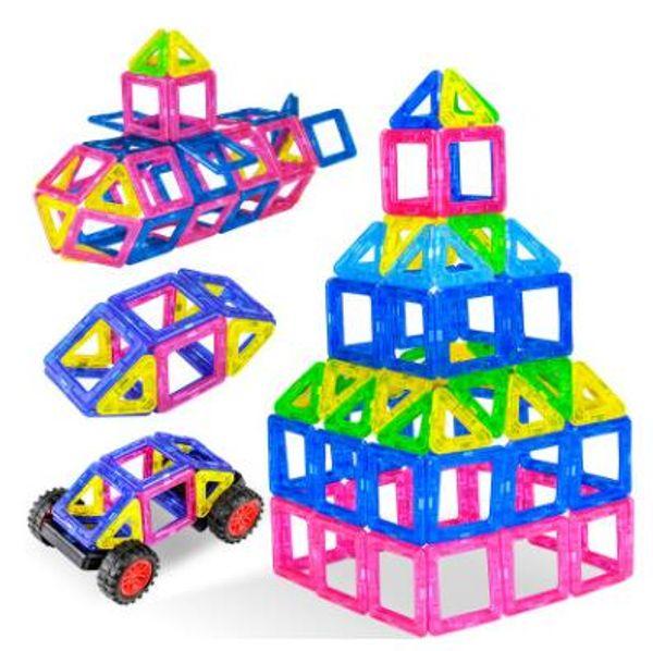 Wholesale- 2018 New Magnetic Blocks Toys Construction Model Magnetic Building Blocks Designer Kids Educational Toys For Children