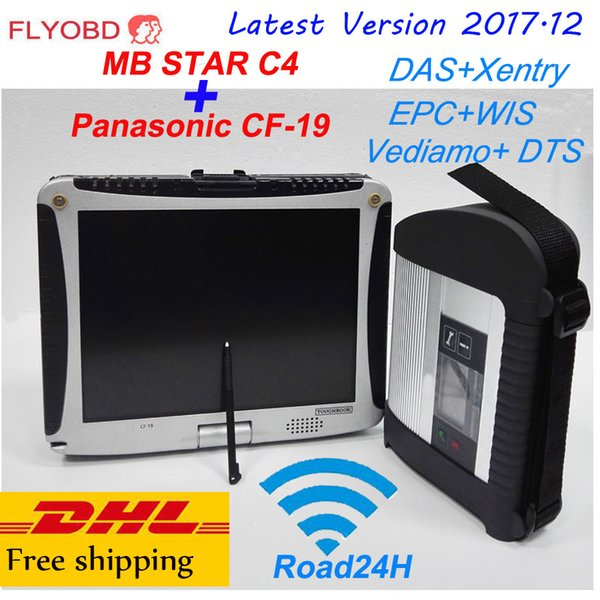 2018 Top Quality Wifi Mb Star C4 Sd Connect C4 Diagnostic Tool With 12/2017  Xentry Software Vediamo With Laptop Cf 19 4gb Fully Kit From Topruxian,