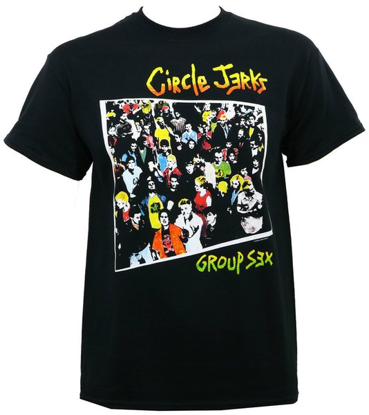 Authentic CIRCLE JERKS Band Group Sex Album Cover Art T-Shirt S M L XL 2XL NEW Newest 2017 Men'S Fashion