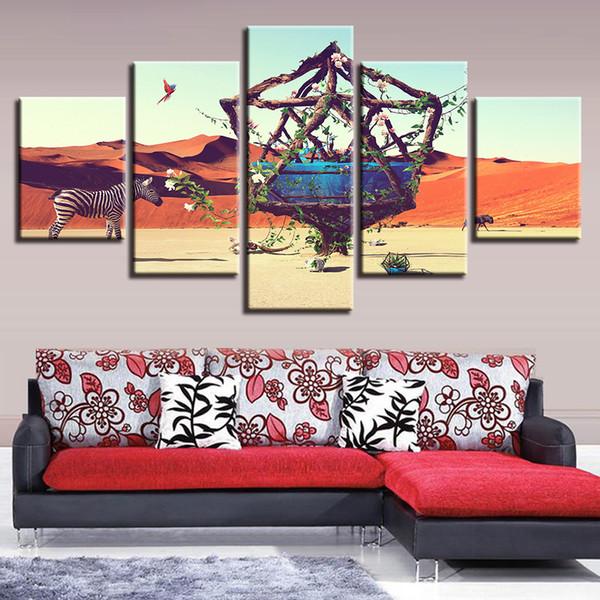 Compre Decoración Home Living Room Wall Art Hd Printing 5 Piezas ...