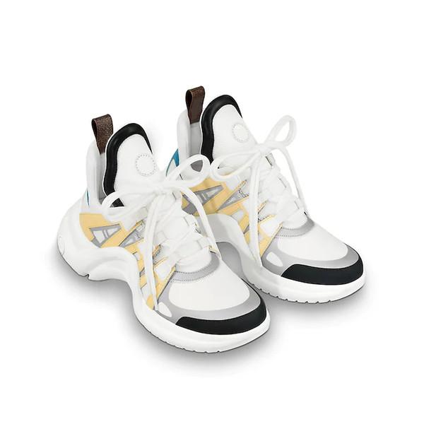 2018 Nuevo diseñador de zapatillas de lujo de moda ArchLight Sneaker Zapatillas de deporte de cuero Zapatos de marca Zapatos de vestir Casual Botas al aire libre para hombre para mujer