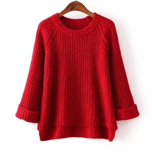 Chegadas Primavera Outono Moda feminina Camisola de Alta qualidade Casuais sólidos Blusas Mulheres Jumper Pullovers Solto Femininas Blusas