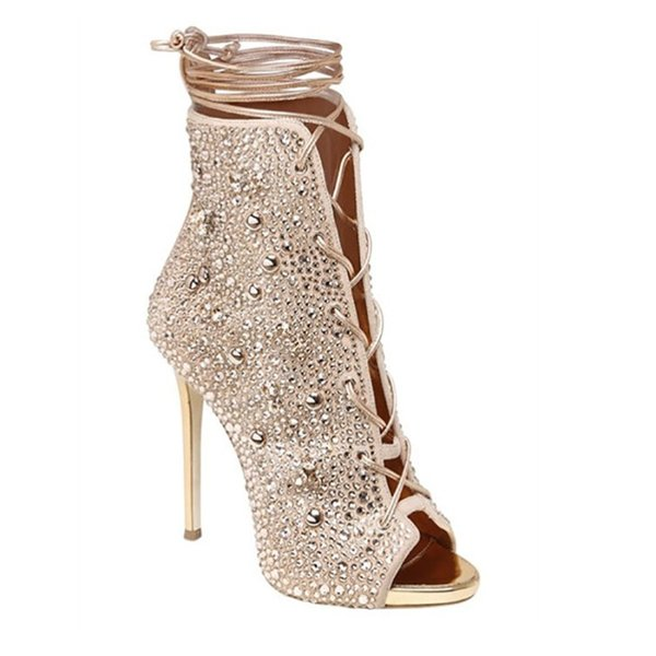 Superstar Designer Women Fashion High Heel Shoes Designer Women Shoes Superstars Fashion Bling Ankle Boots Sexy Women Dress Shoes