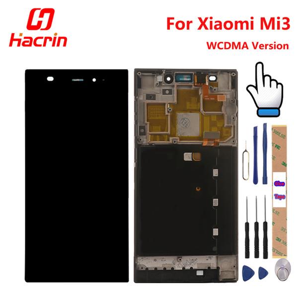 Para xiaomi mi3 display lcd + touch screen com quadro de substituição para xiaomi m3 m 3 mi wcdma telefone móvel