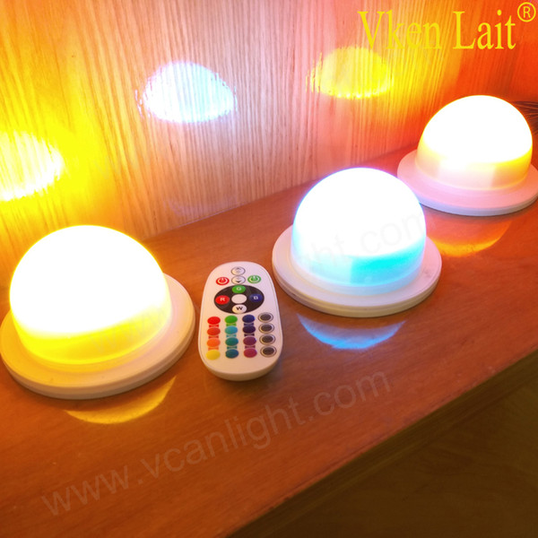 12PCS/lot RGBW colors LED Remote Controlled waterproof candle Tea light RGB color change wedding Xmas lights