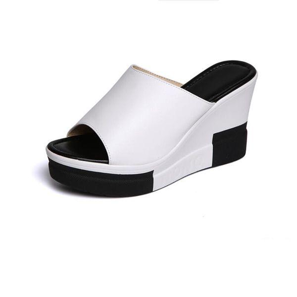 Gladyatör Sandalet Kadınlar Platformu Takozlar Kadınlar Için Ayakkabı Sandalet 2018 Yaz Moda Bayanlar Peep Toe Takozlar Terlik Kadın Yaz Sandalet