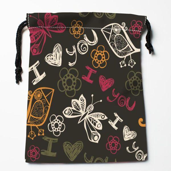 Bolsas de mariposa personalizadas Bolsas de regalo impresas personalizadas Más Tamaño 27x35cm Tipo de compresión
