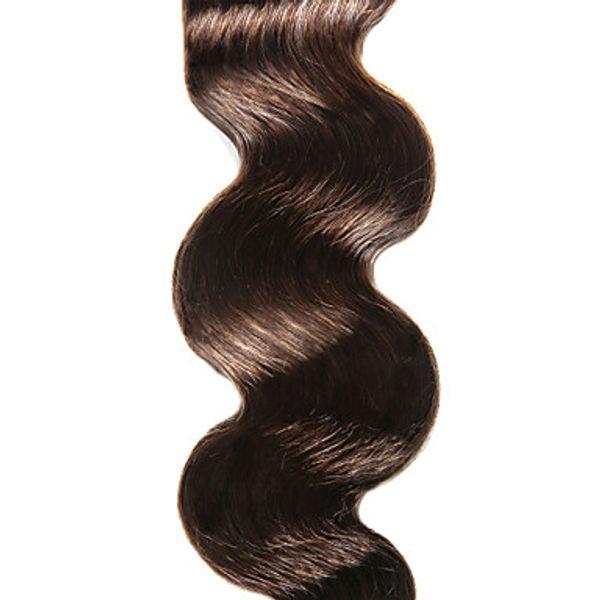 hohe art Malaysische 100% Menschenhaarverlängerungen 6a Mittelbraune Farbe Körperwelle Haar 10-30 Inch Unverarbeitete Reine Haar Weben