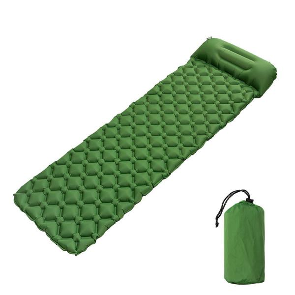 Matelas gonflable extérieur de tapis de camping TPU 1 Matelas pneumatique portable ultra-léger de matelas de couchage de Persom avec le coussin gonflable d'oreiller