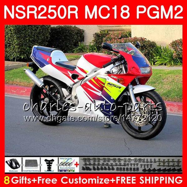 Bodys For HONDA NSR250R MC16 MC18 PGM2 NS250 88 89 78HM.69 NSR 250 R NSR250 R RR hot red frame NSR250RR NSR 250R 88 89 1988 1989 Fairing Kit