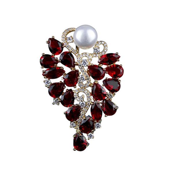 Rouge Arbres Femmes Broche Broche De Haute Qualité Belle Petite Amie Cadeau D'anniversaire De Mode aka sororité bijoux En Gros