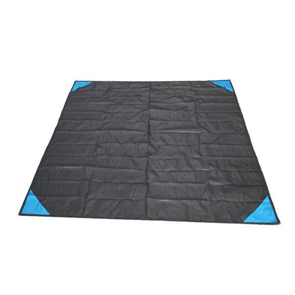 Pocket Camping Blanket Lightweight Waterproof Beach Picnic Blanket for Outdoor Activities (Black)