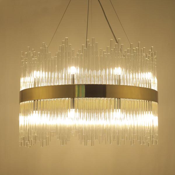 Creative glass crystal LED Pendant Lights Simple Dia100cm 120cm Pendant lamp living room Parlor Study Bedroom Home lighing G242