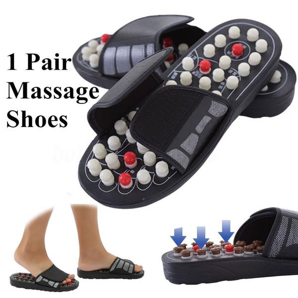 Nueva llegada Masaje de pies Zapatillas Terapia de acupuntura Zapatillas de masaje para piernas Punto de acupuntura Reflexología para pies Cuidado massageador Sandalia