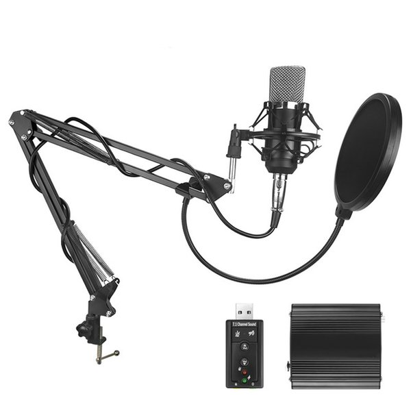 ITUF New BM700 High Quality Professional 3.5mm Wired Microphone Audio recording Mic for computer KTV Karaoke Metal Shock Mount