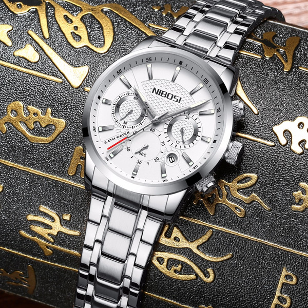 Mens unique luxury business sports quartz watch fashion Casual analog watch classic calendar date window waterproof 30m