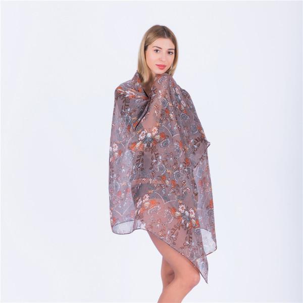 Yeni Moda Kaju Baskı Bahar Eşarp Kadınlar Atkılar ve Şal Çiçek Başörtüsü Viskon Bandana Echarpe Fular Femme Drop Shipping