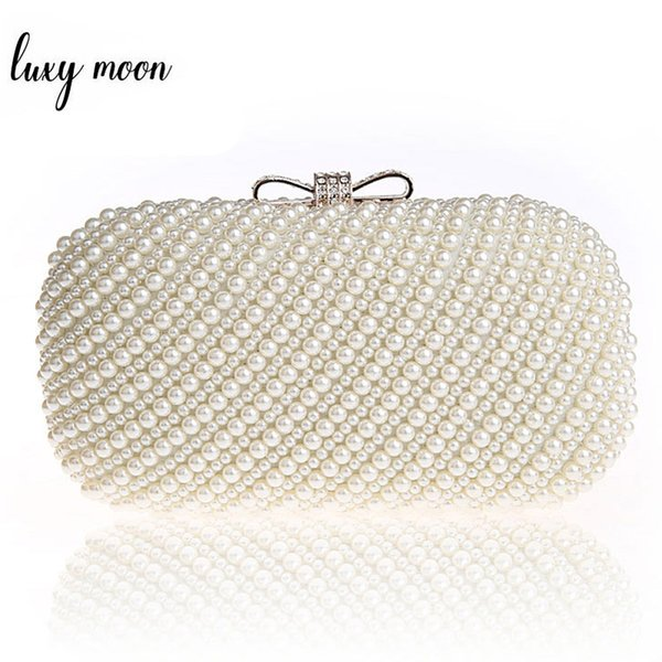 New 2018 Luxury Pearl Clutch Bags Women Evening Bags Exquisite Clutches Purse for Party Wedding Lady Handbags Bolsa Feminina